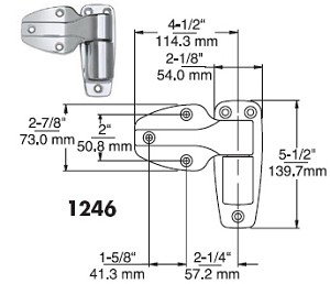 Kason 1246 Heavy Duty Hinge